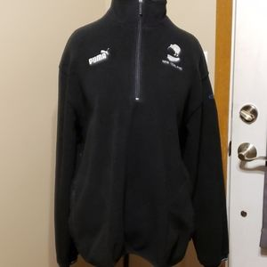 Puma fleece 3/4 zip pullover new zealand kiwi